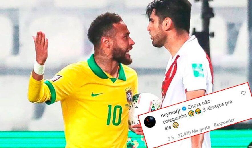 "Neymar le responde a Carlos Zambrano: ""Ya no llores colega, toma tres  abrazos"""
